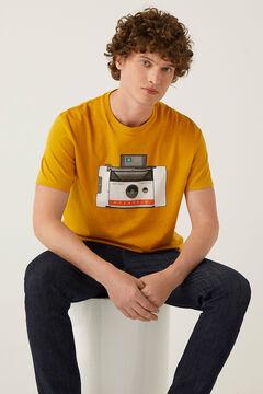 Springfield T-shirt polaroid camelo