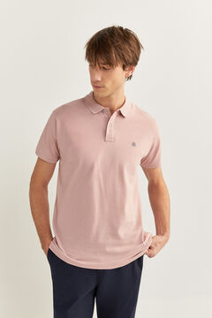 Springfield Essential slim fit polo shirt red