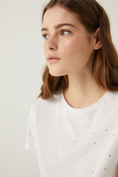 Springfield Crystal studs t-shirt white
