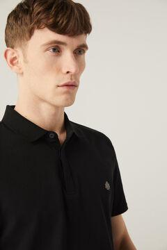 Springfield Slim fit spandex polo shirt black