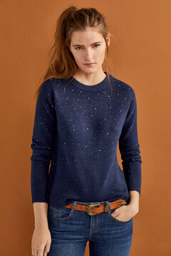 Springfield Patterned Jumper blue