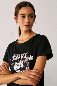 Springfield Organic cotton Love Mickey T-shirt black