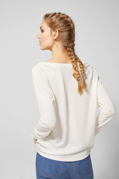 Springfield - Camiseta túnica bimateria - 4