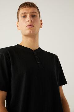 Springfield Henley-neck t-shirt black