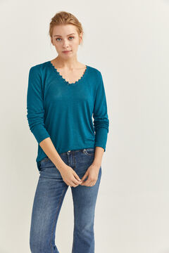 Springfield Lace Collar T-shirt green