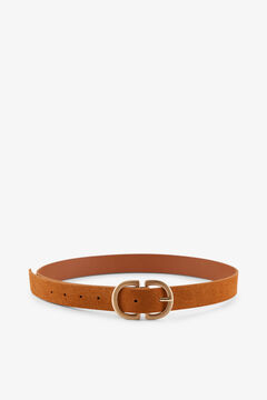 Springfield Belt with buckle brun