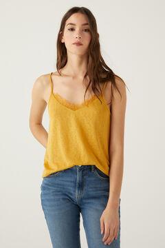 Springfield Camiseta lencera tirantes amarillo
