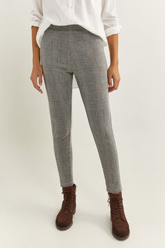 Springfield Checked Leggings stone
