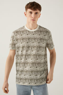 Springfield Ethnic AOP t-shirt natural