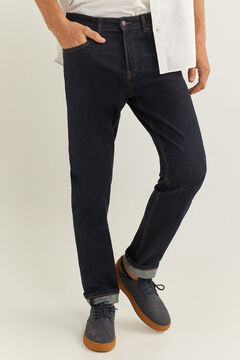 Springfield REGULAR DESIZED WASH JEANS navy