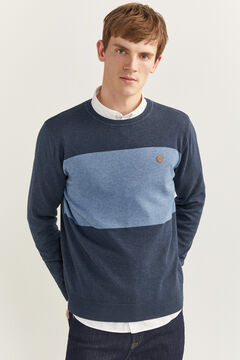 Springfield COLOUR BLOCK JUMPER bluish