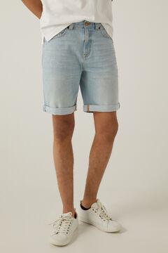 Springfield Light wash denim Bermuda shorts indigo blue