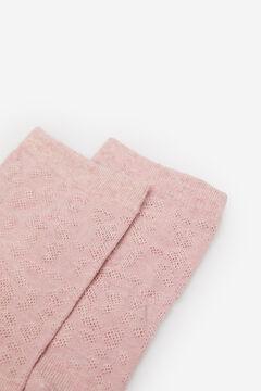 Springfield Leopard Jacquard Socks pink
