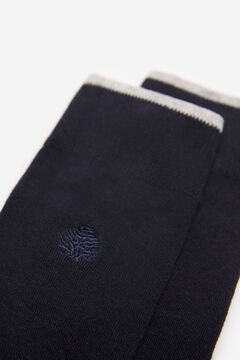 Springfield Embroidered tree socks navy