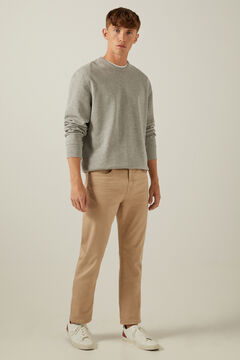 Springfield Regular fit coloured washed 5-pocket trousers brown