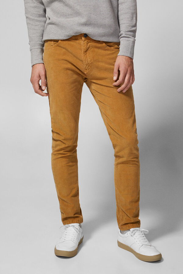 Springfield Slim fit five-pocket corduroy trousers color 2dc397c263
