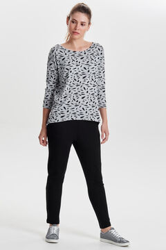 Springfield Printed 3/4-length sleeve blouse grey