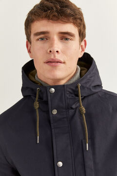 Springfield SHORT HOODED PARKA blue