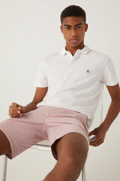 Springfield Slim fit spandex polo shirt white