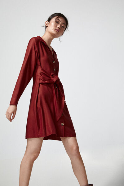 Springfield - Knot shirt dress - 2