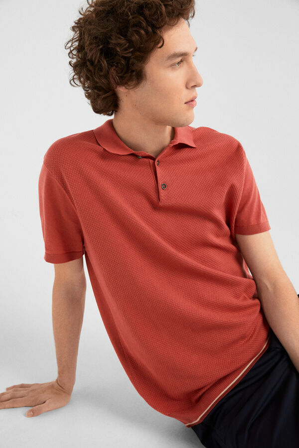 d3b80d13b Springfield Polo tricot tipping roxo
