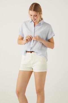 Springfield Chino shorts with belt grey