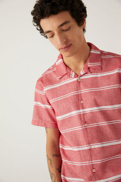 Springfield Horizontal striped short-sleeved shirt orange