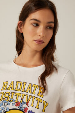 Springfield Organic cotton Radiate Positivity T-shirt white