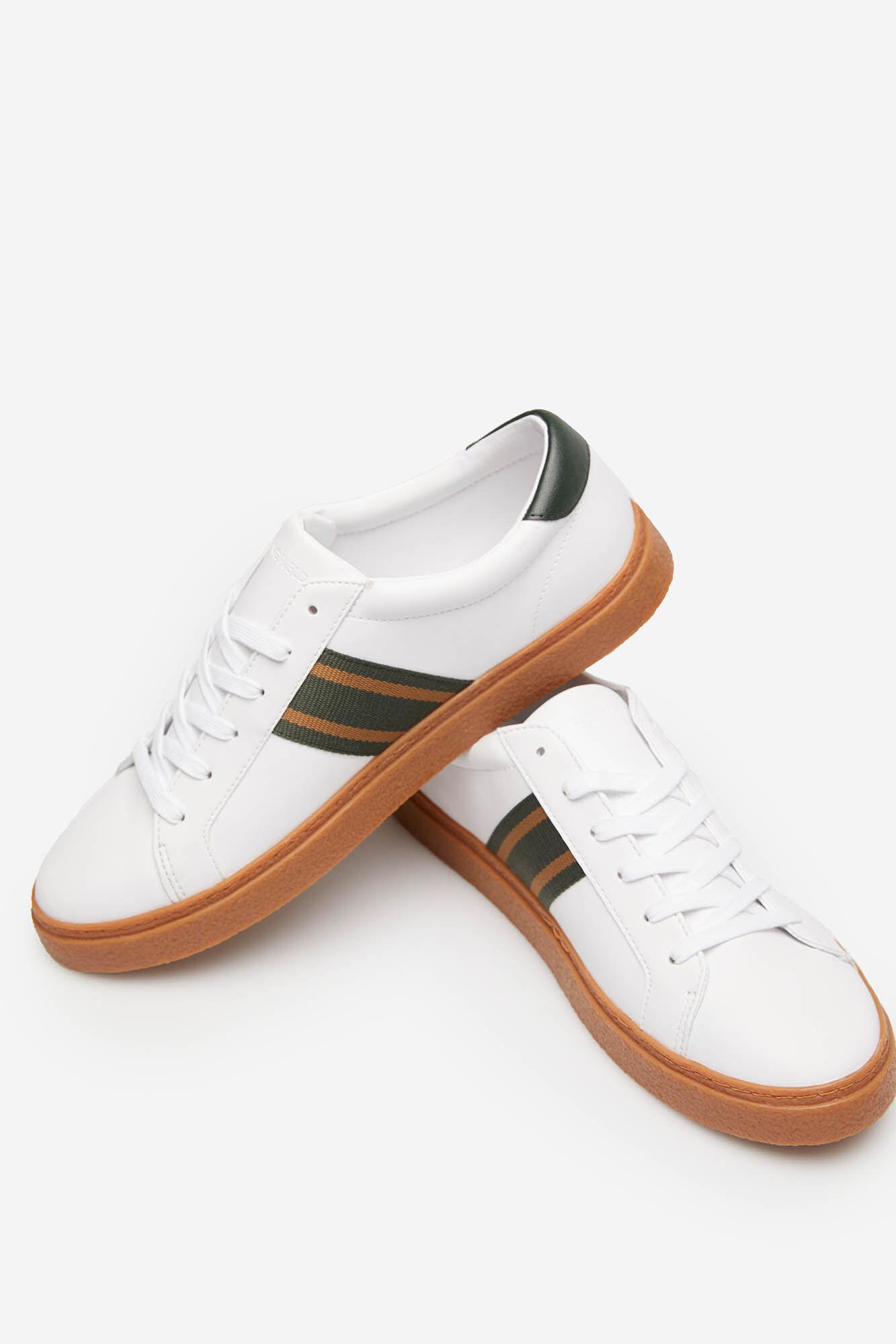 Manamp; Im Look SeitenbandChaussuresSpringfield Woman Sneaker Leder Pn0Okw