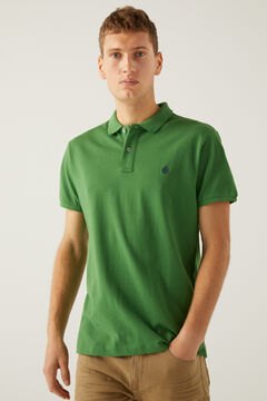 Springfield Essential slim polo shirt green