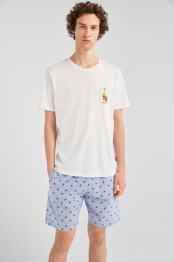 45e0f3a088 Springfield Pijama estampado frutas blanco