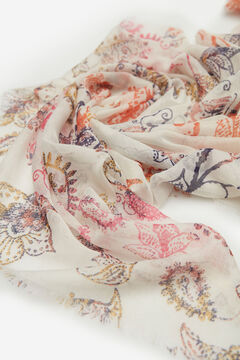 Springfield Paisley Floral Print Scarf beige