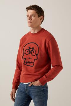 Springfield Skull sweatshirt terracotta