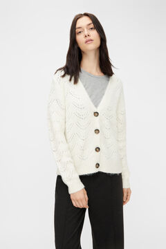 Springfield Jersey-knit cardigan  white