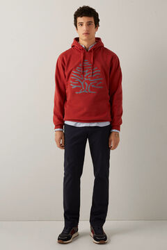 Springfield Sweat-shirt arbre chambray bordeaux