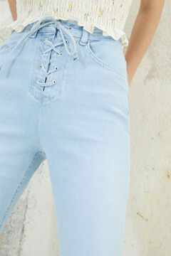 Springfield Bootcut lace-up jeans blue