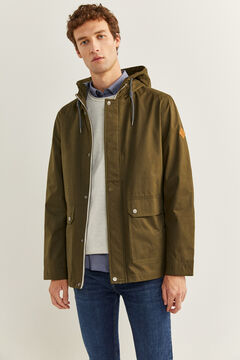 Springfield WATER-REPELLENT HOODED PARKA dark gray