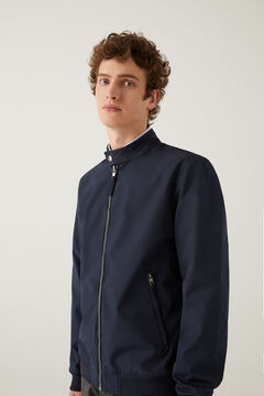 Springfield Stand-up collar technical jacket blue