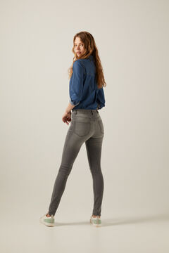 Springfield Sustainable wash slim recycled cotton jeans grey