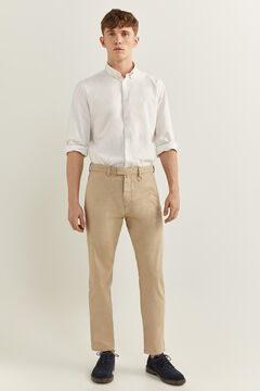 Springfield Textured two-tone formal chinos medium beige