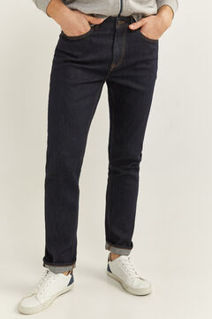 Springfield SLIM DESIZED WASH JEANS navy