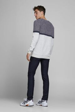 Springfield Sustainable colour block jumper gris