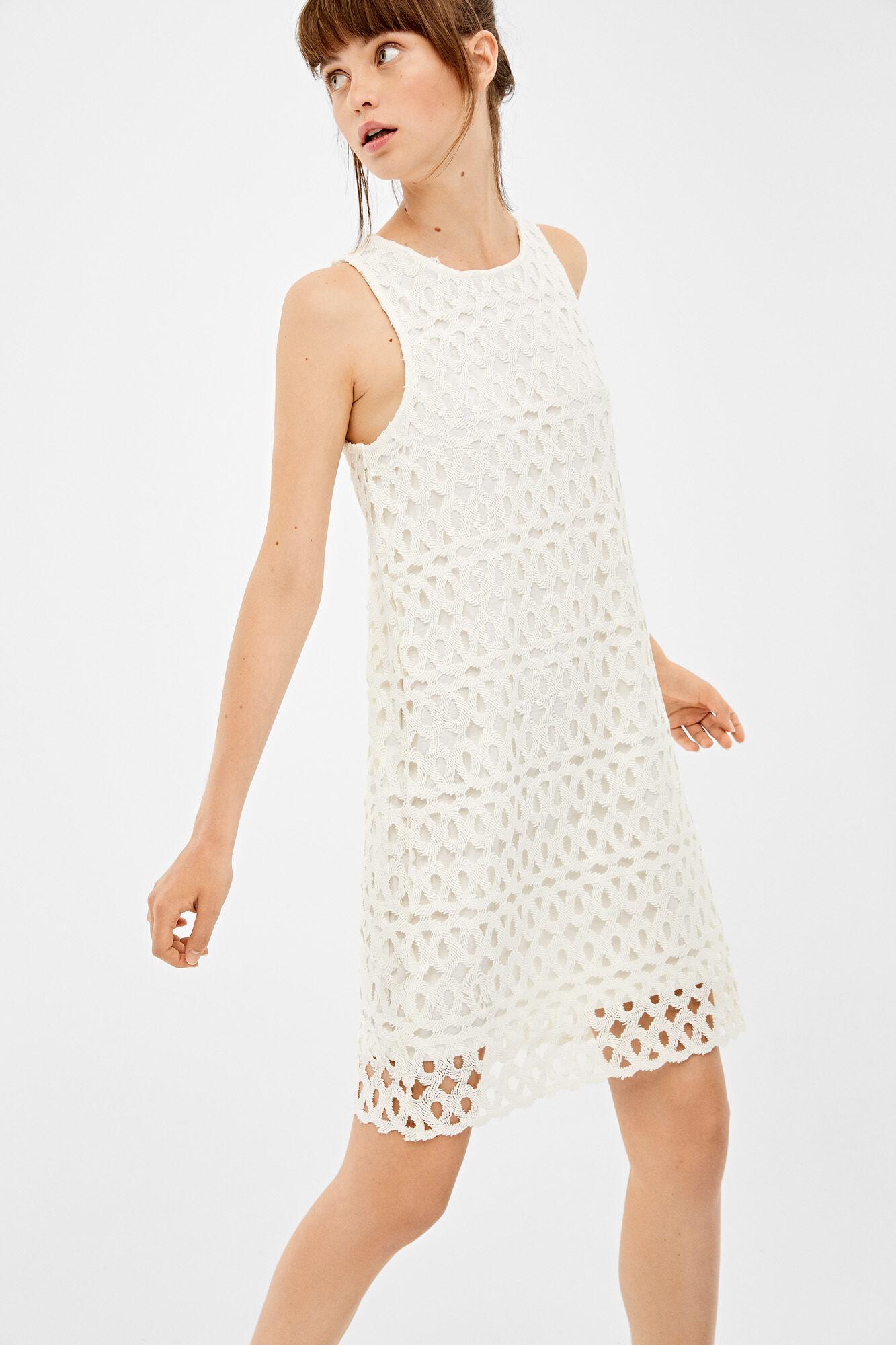 Treffen 775f6 9e6ae Kleid weiß Spitze   Kleider   Springfield Man & Woman