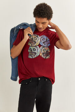 Springfield SKULL T-SHIRT deep red