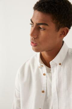 Springfield Linen shirt white