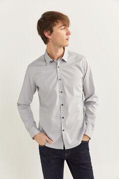 Springfield Slim fit printed shirt grey