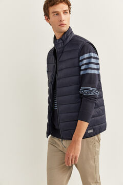 Springfield QUILTED GILET WITH RECYCLED POLYESTER PADDING blue