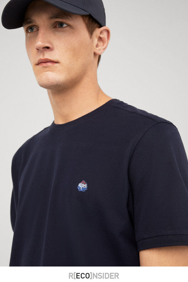 Springfield Camiseta logo bordado azul 7acea5a891a4e