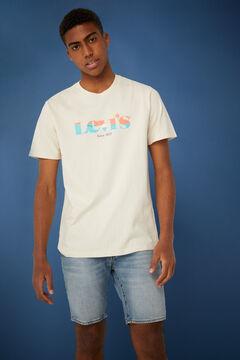 Springfield T-shirt de algodão manga curta cru