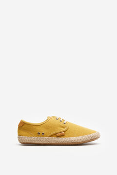 Springfield Washed canvas espadrille yellow